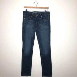 American Eagle Skinny Stretch Low Rise Jeans Sz 8